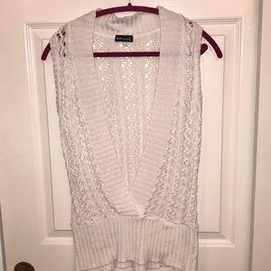 Wet seal white knit vest
